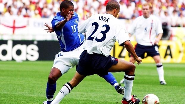 Kleberson Brasil Inglaterra Copa do Mundo 2002 21/06/2002