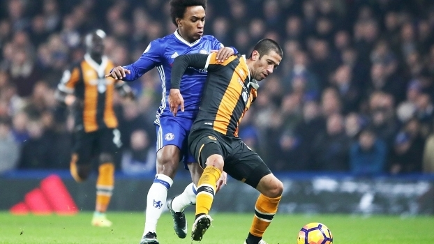 Evandro Hull City Willian Chelsea Premier League 22/01/2017