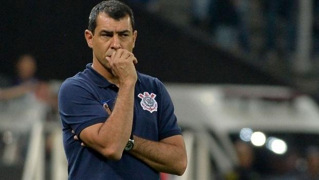Fabio Carille durante o jogo do Corinthians contra a Chapecoense