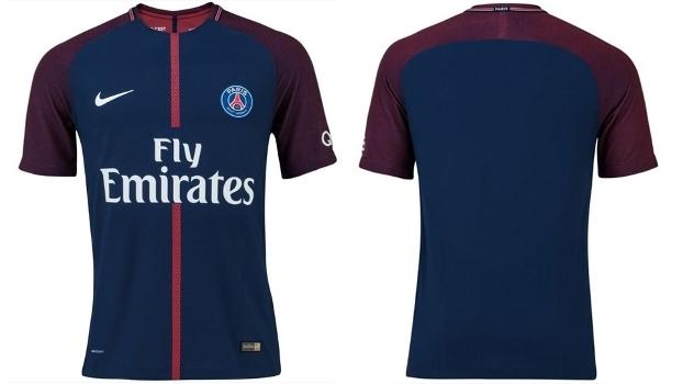 ac6fcb0c56 Paris Saint-Germain divulga nova camisa 1 com várias mudanças ...