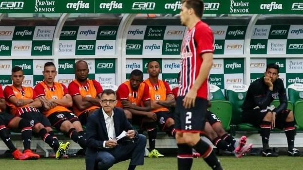 Osorio durante derrota do São Paulo para o Palmeiras