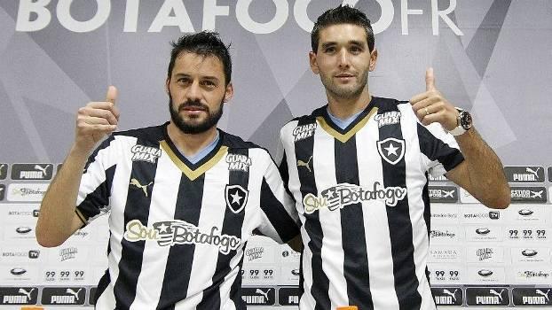 6554685cba1b3 Dupla uruguaia é apresentada no Botafogo e relembra compatriotas - ESPN