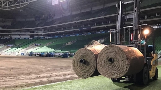 Gramado do Allianz foi replantado para receber o Peñarol