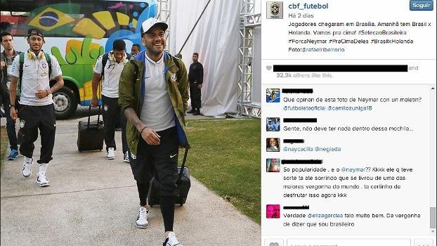 Foto com Neymar carregando mochila gera estranheza em torcedores ... a937df3e4458c