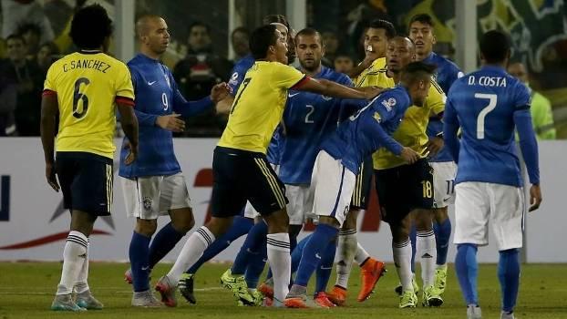 Copa America Brasil Colombia briga confusão Neymar Bacca 7ff5daf61047b