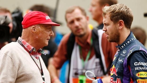 Lauda em encontro com Vettel