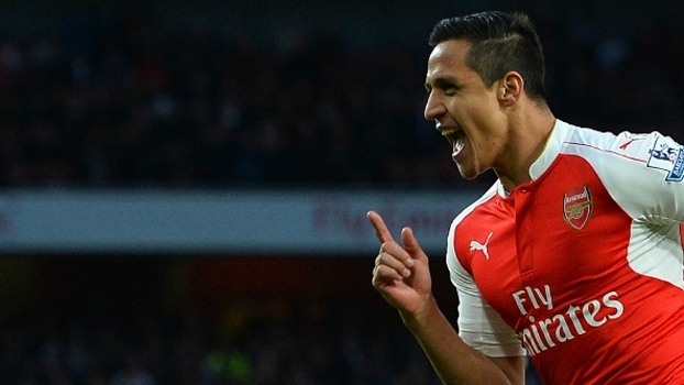 Alexis Sanchez, o atacante do Arsenal