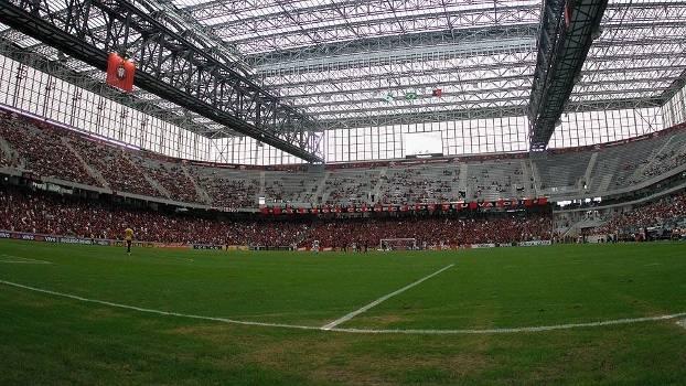 Arena da Baixada antes da partida entre Ponte Preta e Atlético-PR pelo  Brasileirão 2015