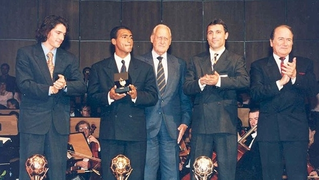Romário, o primeiro brasileiro eleito melhor do mundo pela Fifa, em 1994
