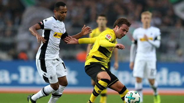 Götze, em ação contra o Mönchengladbach