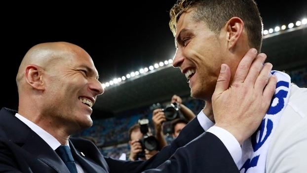 A parceria entre Zidane e Cristiano Ronaldo já rendeu duas Champions ao Real 0effaed69bc6f