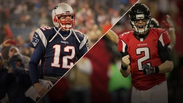 684f5a5112 Brady e os Patriots ou Ryan e os Falcons  Quem sairá vencedor do ...