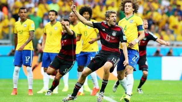 Thomas Muller Comemora Gol Brasil Alemanha Copa do Mundo 08/07/2014
