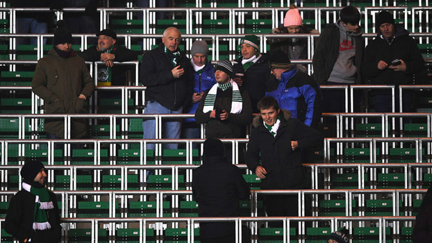 O sistema de 'rail seating' do Celtic Park