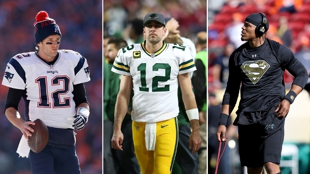 Brady, Rodgers e Newton comandam os times mais talentosos segundo o ranking