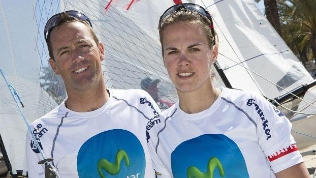 Fernando Echávarri e Tara Pacheco, representantes da Espanha na classe Nacra 17