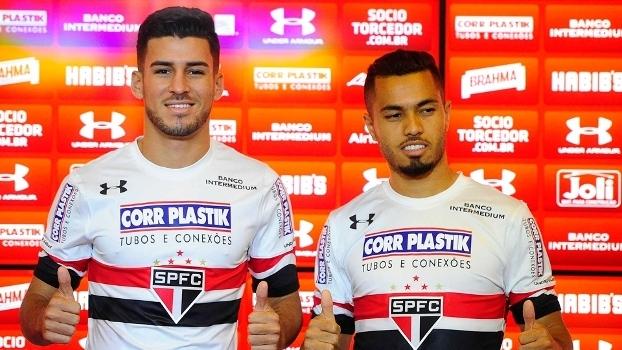 Marcinho e Morato foram apresentados junto no São Paulo no São Paulo