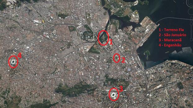 Terreno que poderá ser do estádio do Flamengo  160 mil metros quadrados e27f99508eef4