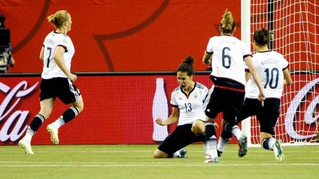 Sasic Comemora Gol Alemanha França Copa do Mundo 2015 Feminina 26/06/2015