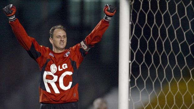 Ceni já teve 170 camisas no São Paulo; este modelo é da Libertadores-05