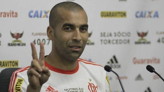 Sheik durante entrevista coletiva no Flamengo