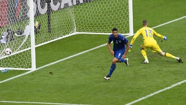b86f2d7b03 Pellè fez o gol que fechou a conta diante da Espanha