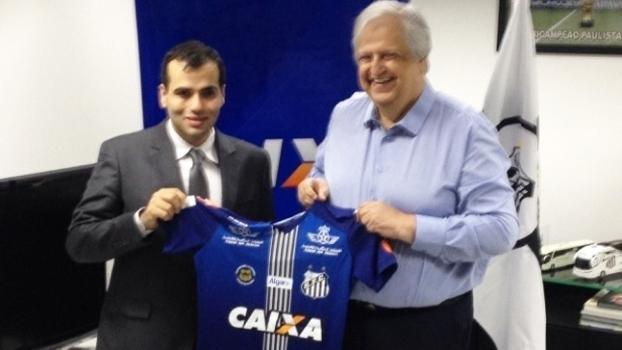 Santos avança em negociação com a Caixa para ter patrocínio neste ano