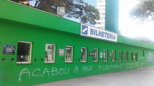 Allianz Parque Palmeiras Pichado Protesto 21/03/2016