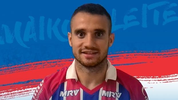 Maikon Leite foi anunciado nesta quinta-feira pelo Bahia