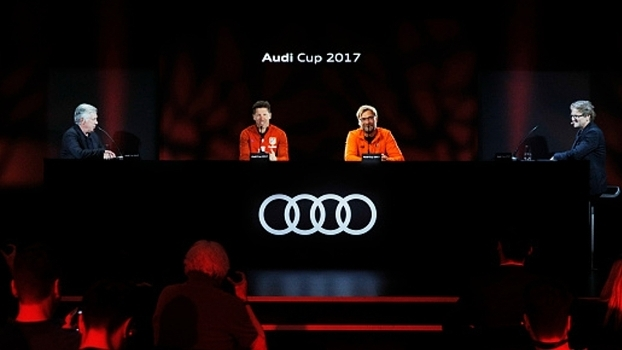 Ancelotti, Simeone e Klopp em entrevista da Audi Cup