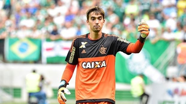 O goleiro César é o reserva mais velho do Flamengo
