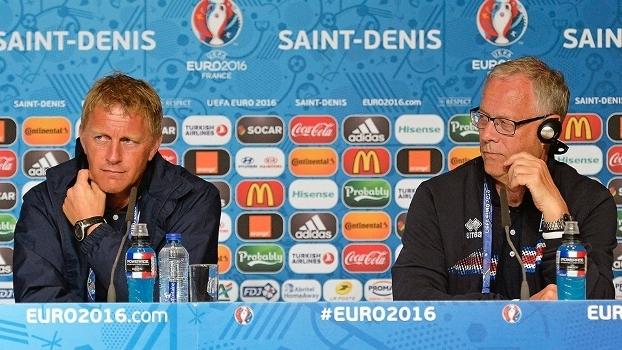 Heimir Hallgrimsson Lars Lagerback Coletiva Islandia Euro-2016 21/06/2016