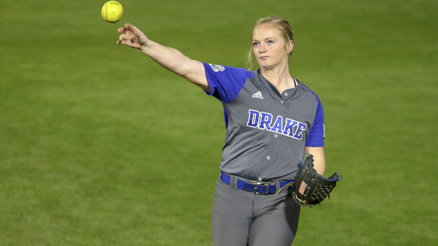 Drake Bulldogs left fielder Abby Buie