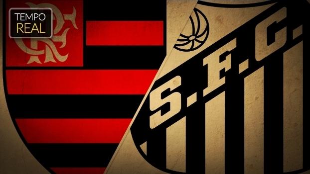 TEMPO REAL: é hora de clássico! Siga Flamengo x Santos