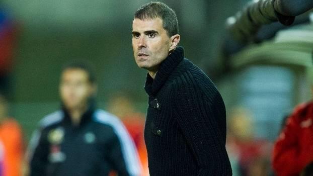 Gaizka Garitano, técnico do Eibar, durante jogo do Espanhol