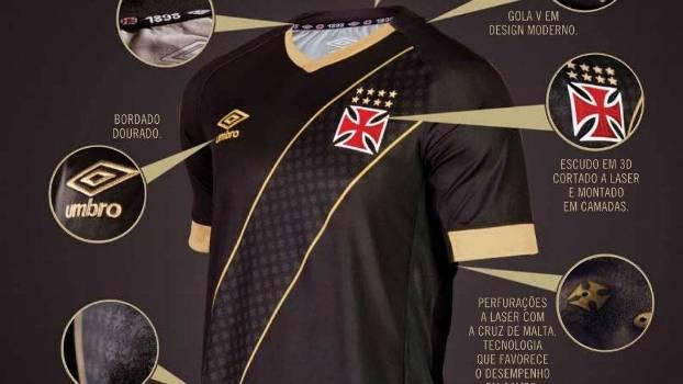 923b8f825cf50 Nova terceira camisa do Vasco lançada pela Umbro nesta sexta-feira