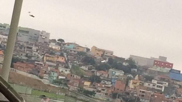 Drone com a camisa do Guaraní-PAR sobrevoa a Arena Corinthians