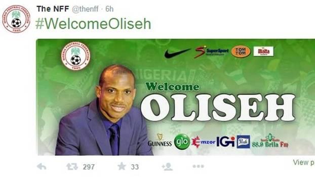 Sunday Oliseh assume o comando da seleção nigeriana