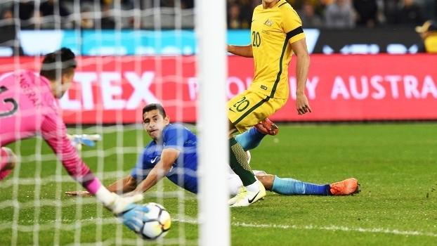 Diego Souza Gol Brasil Australia Amistoso 13/06/2017