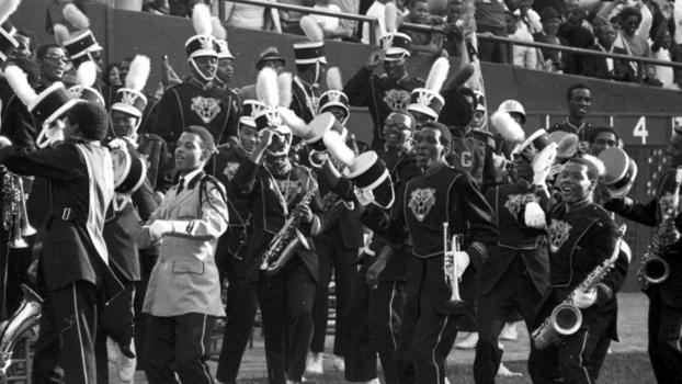 A banda da Grambling State University em ação