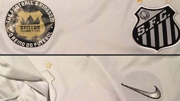 d861213e6d8d1 Camisa do Santos de frente e do avesso