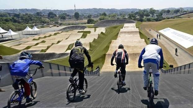 Pista de ciclismo BMX da Olimpíada Rio-2016, no Parque Radical de Deodoro