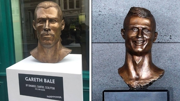 062fee3f03df6 Artista do busto de Cristiano Ronaldo ataca de novo e Bale vira ...