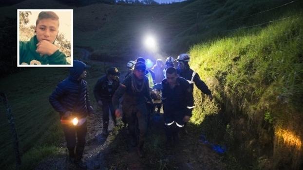 Criança que ajudou no resgate foi encontrada pelo jornal El Colombiano