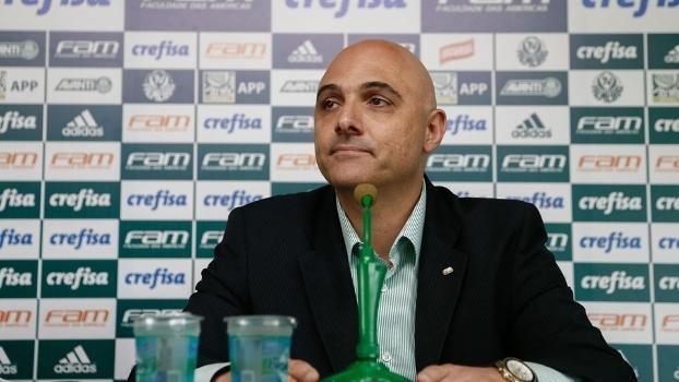Galiotte durante entrevista coletiva no começo de fevereiro