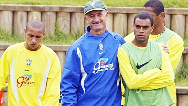 Denilson Luiz Felipe Scolari Felipão Treino Seleção Brasileira Copa do Mundo 2002 02/06/2002