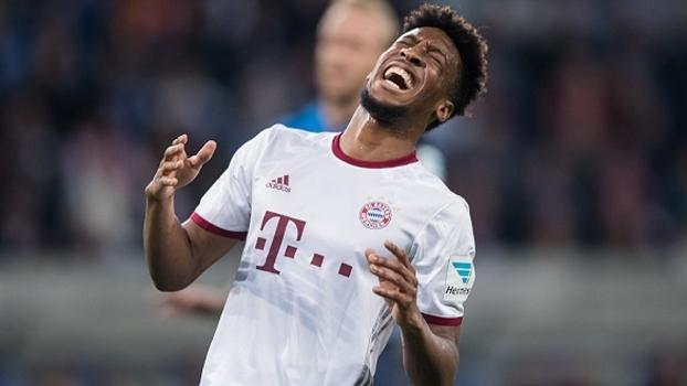 Coman lamenta na partida entre Bayern e Hoffenheim