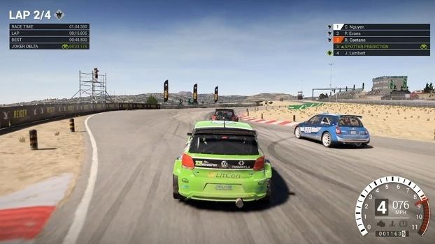 DiRT 4 oferece duas abordagens de pilotagem e disputa: simulação e gamer, mais 'casual'.
