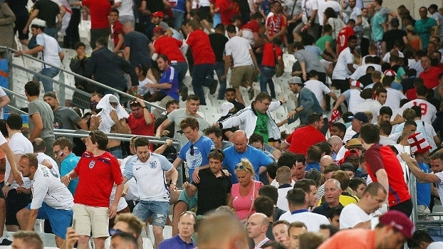Inglaterra Briga Rússia Futebol Marselha Getty 11/06/2016