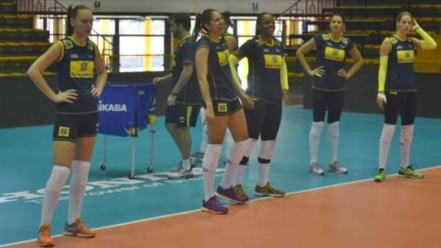 Seleção feminina de vôlei já treina na Itália para o Grand Prix
